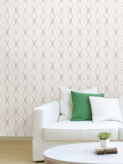 Circulate Light Peel and Stick Wallpaper by Brewster at Gilt
