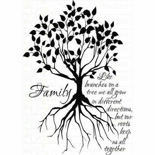 Silhouette family tree tattoo