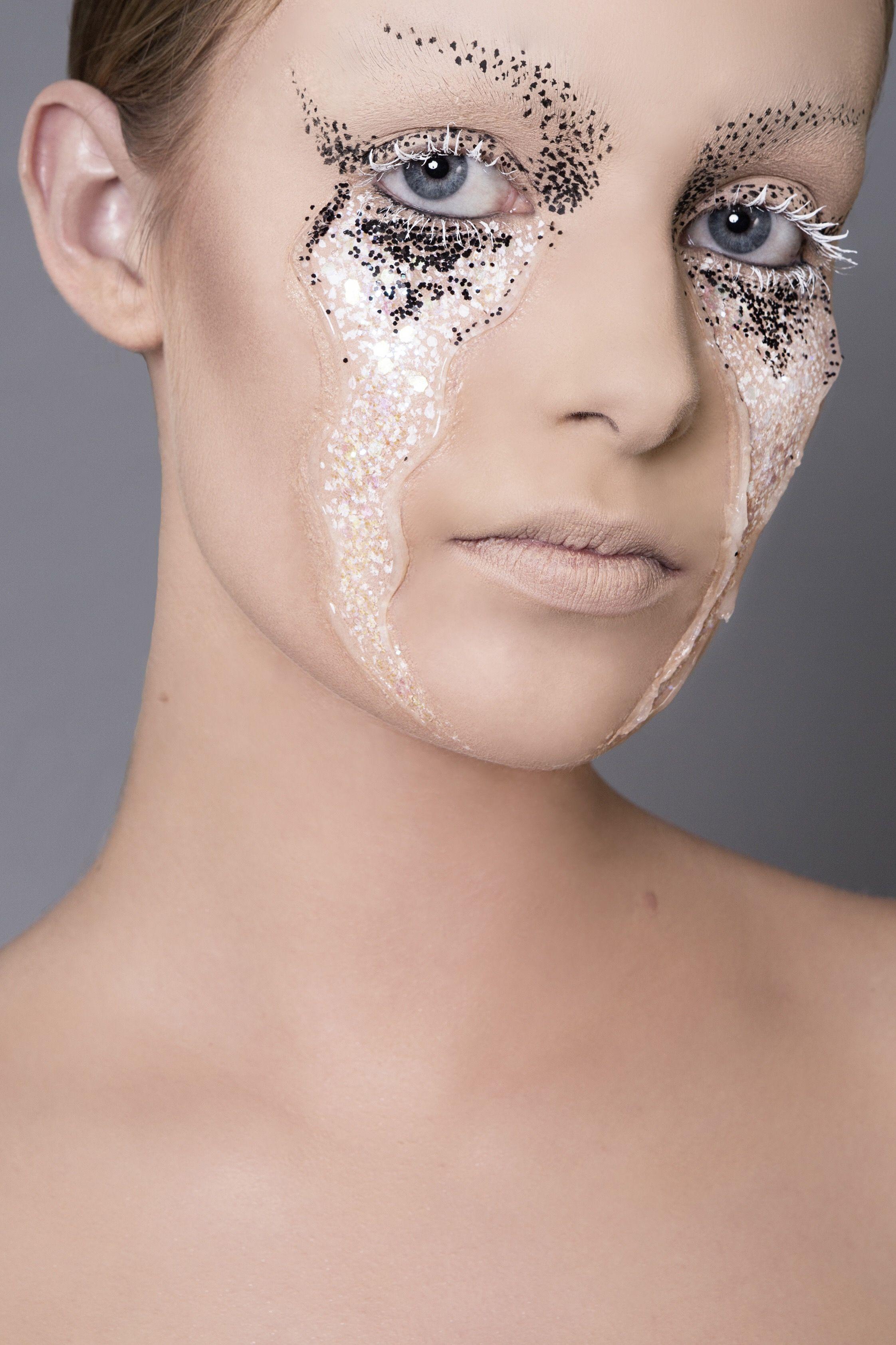 Facemakeup makeup glitter liekevdl makeupart muah tears model