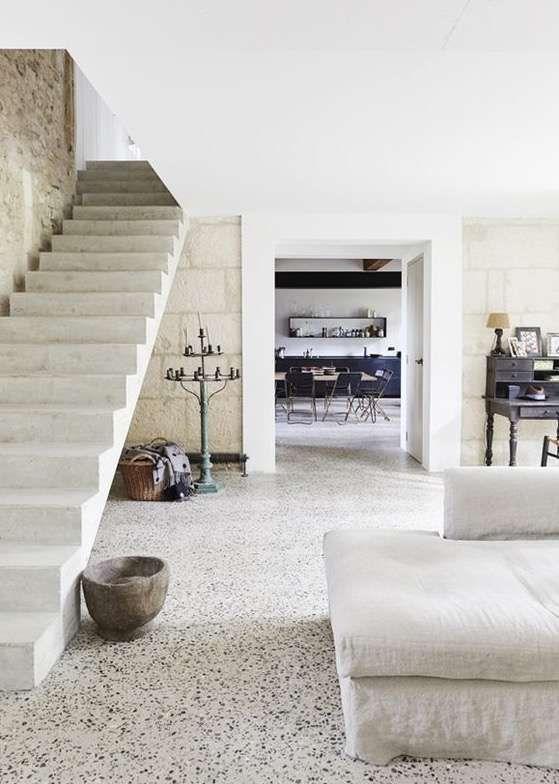 El terrazo tendencia en pavimentos para decorar interiores fotos decoraci n con suelos de - Pavimentos rusticos para interiores ...