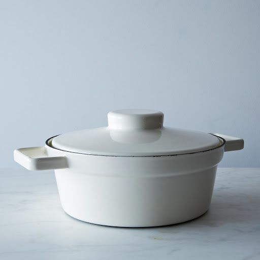 Never seen a double-use pot like this one!  Enamel Aroma Pot with Lid Trivet on Provisions by Food52