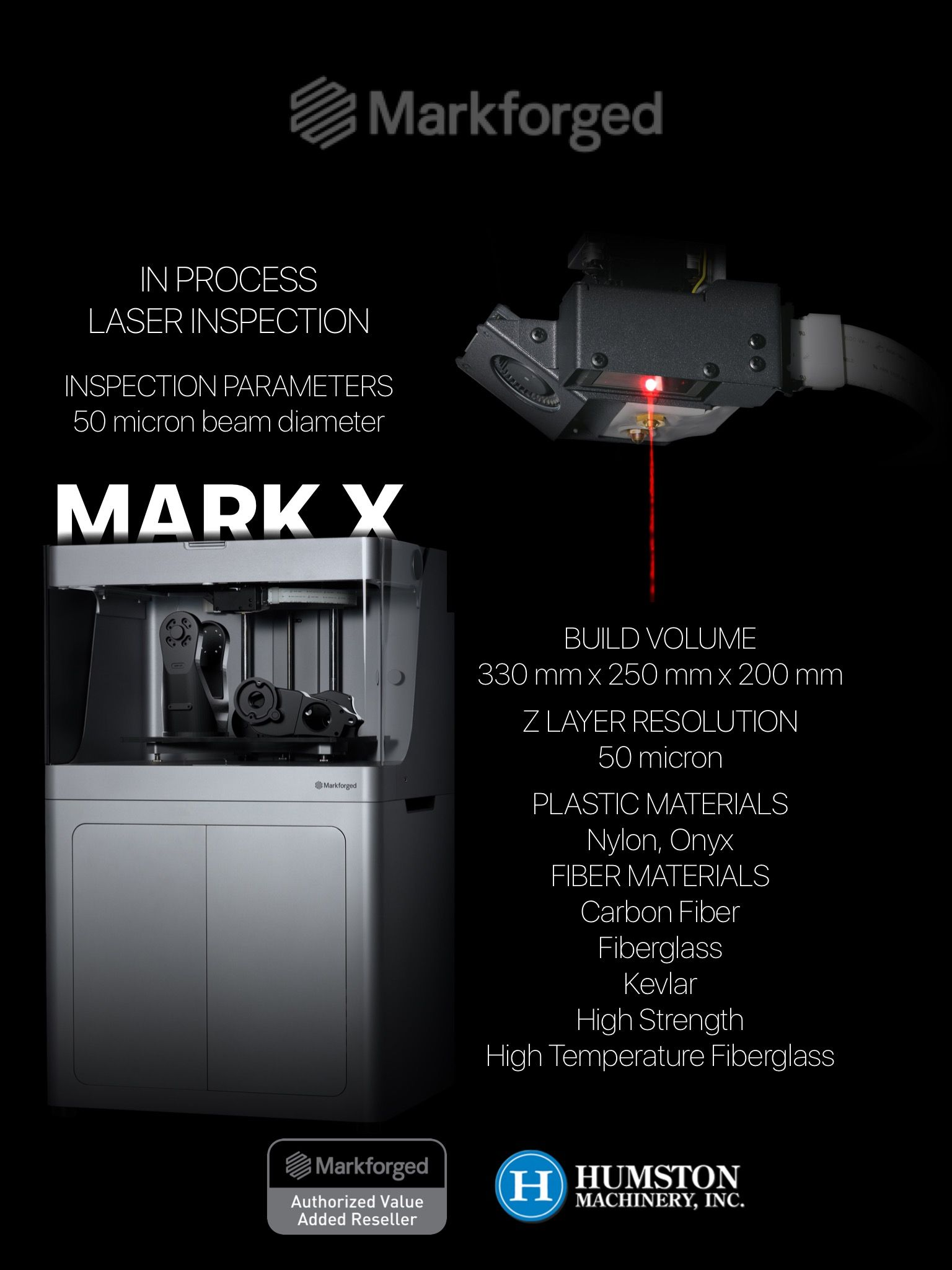 Looking for the new Markforged Mark X?! It's finally here, contact Humston Machinery for details and a quote. www.humstonmachinery.com #3d #3dprinter #3dprinting #markforged #indiana #distributor #humstonmachinery