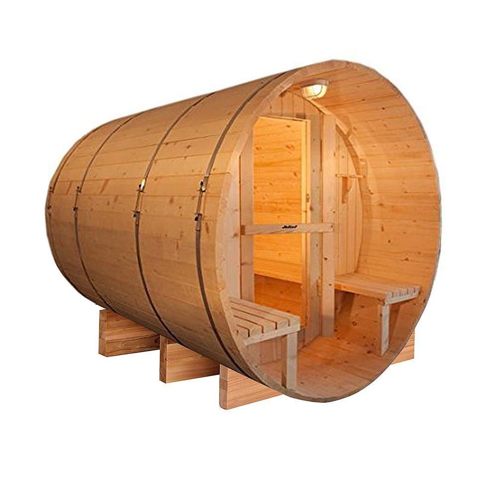 Aleko 5person red cedar electric heater saunasb5cedarcp