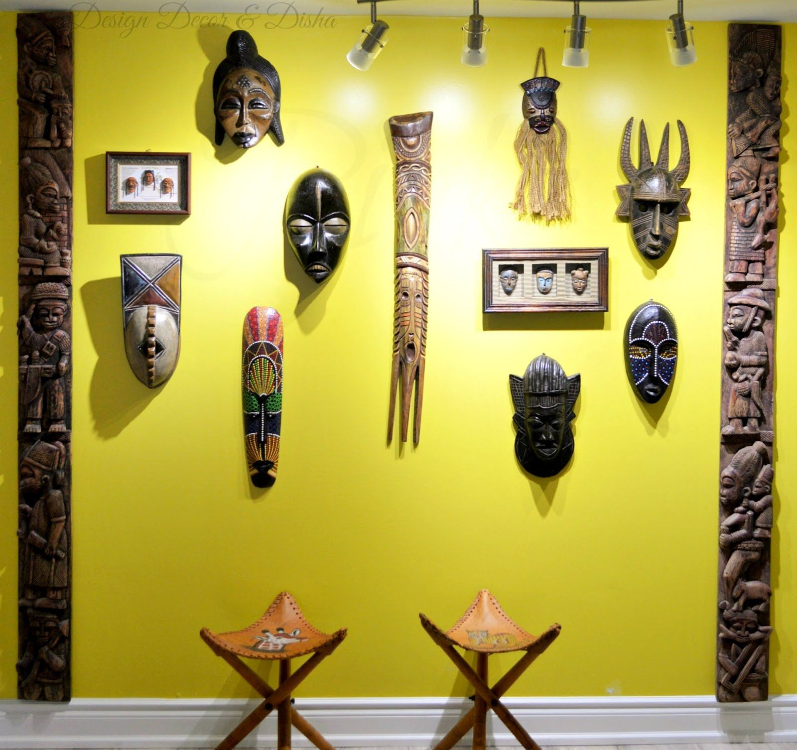 Wall Of Masks | home diy | Pinterest | Masking, Global decor and ...