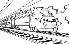 Hasil Gambar Untuk Mewarnai Alat Transportasi Kereta Api Belajar