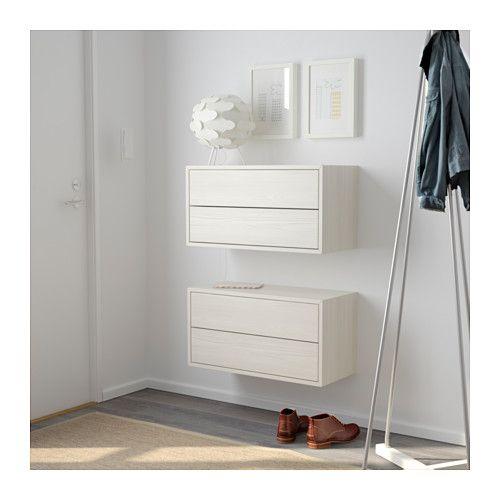 IKEA Valje Larch White Wall Cabinet