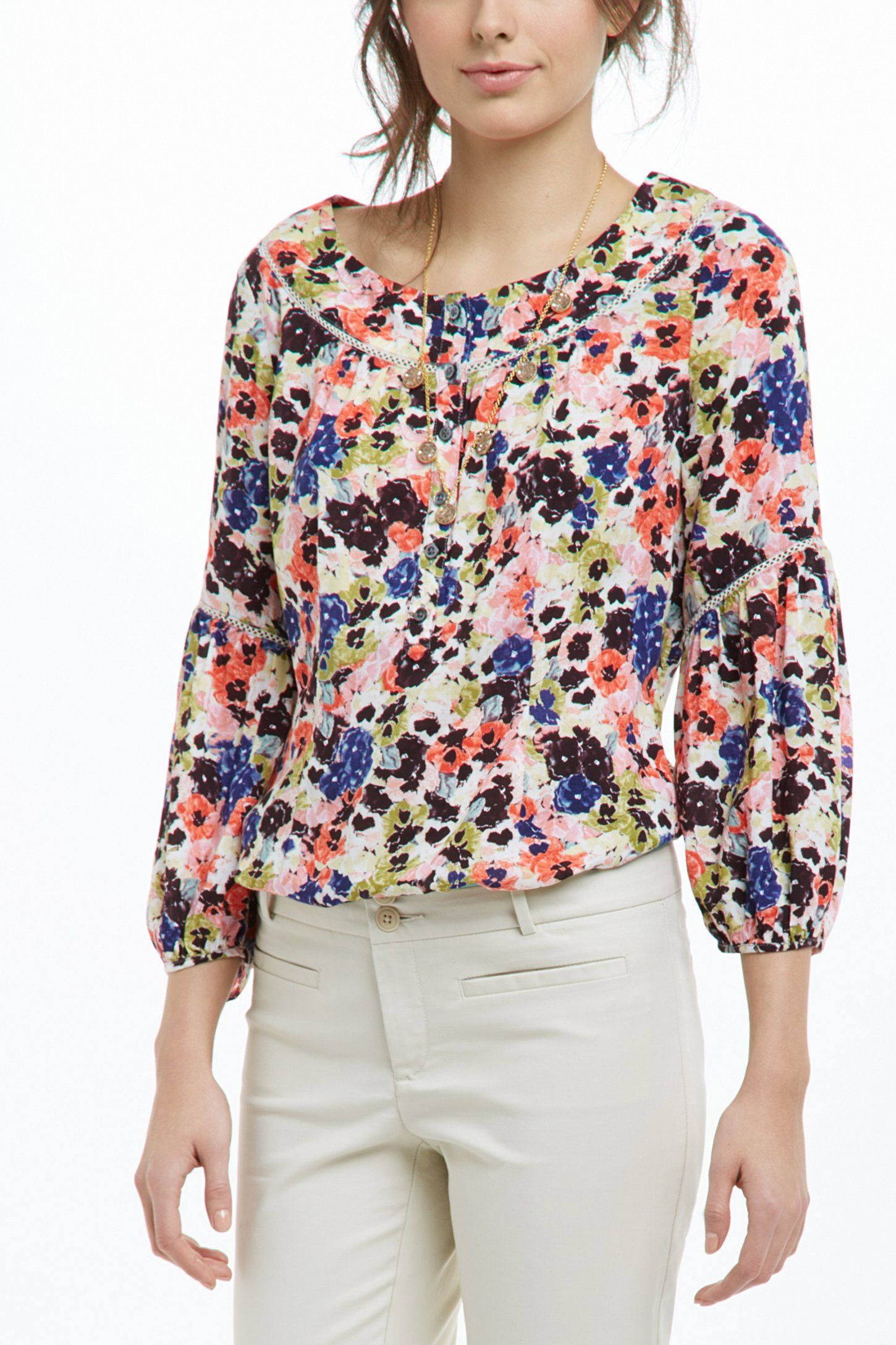 645c02d28b0 Pansyfield Peasant Blouse - Anthropologie.com