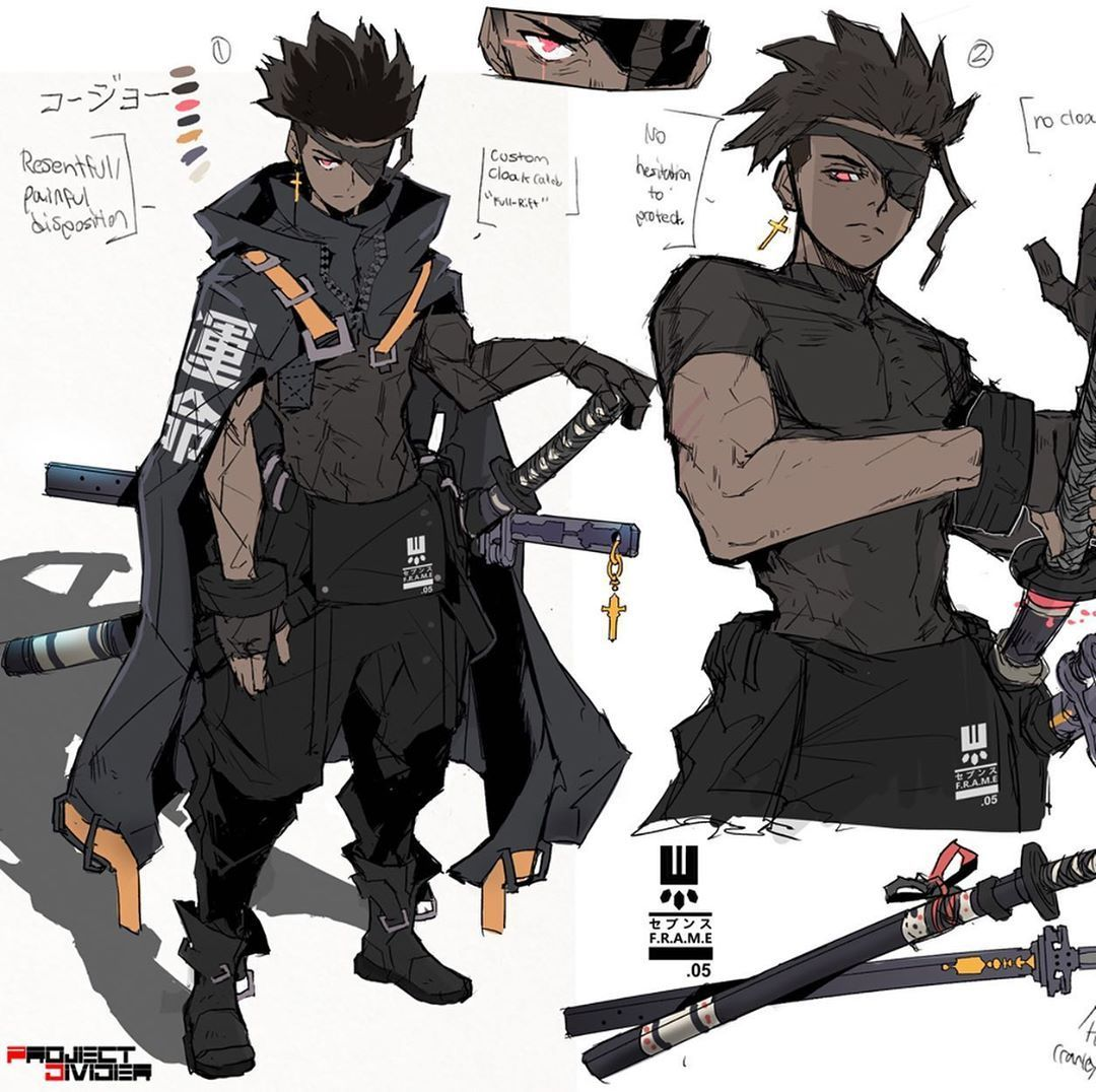 Mitch Kyle Lucas On Instagram New Concept Art For Pd Do You Think Hes A Hero Or Anti H Anime Character Design Character Design Male Fantasy Character Design