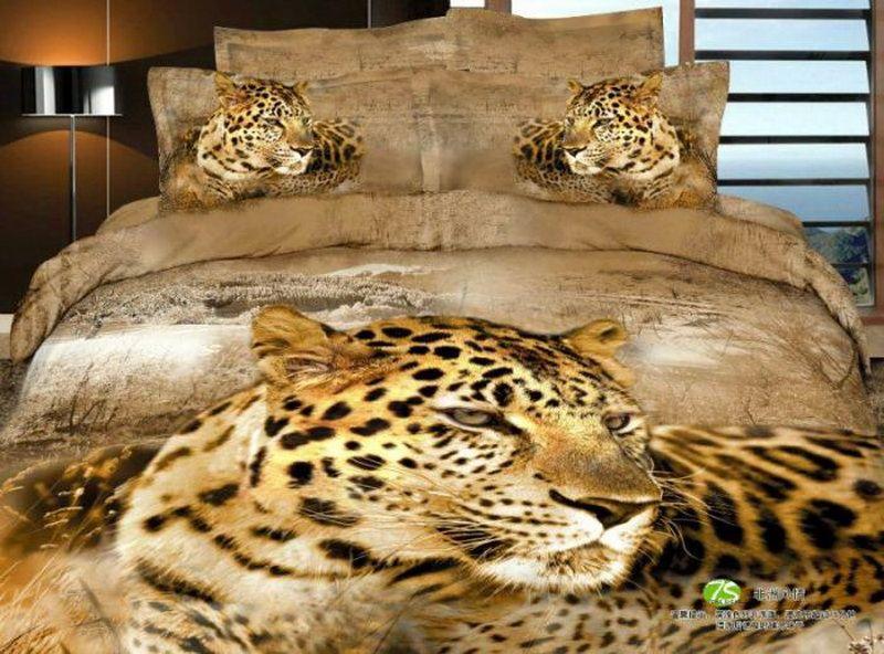 African Leopard Yellow Bedding Animal Print Bedding 3d