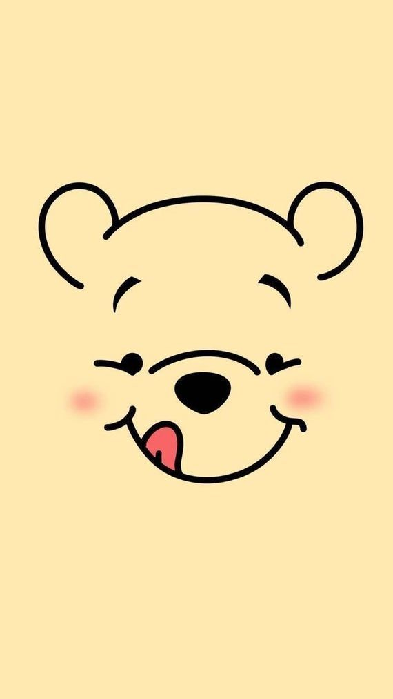 Pooh Smiley Face SVG | Cricut Cut File - Silhouette Cut File | INSTANT DOWNLOAD | Happy Honey Winnie the Pooh