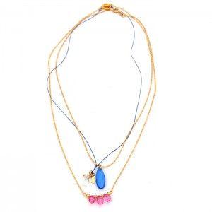 Collar Amatista Azul.  www.dulceecanto.com - Tienda online de accesorios para mujer - Compra tus accesorios desde la comodidad de tu casa u oficina #accesorios #aretes #collares #pulseras #bolsos #bisuteria #moda #fashion #colombia