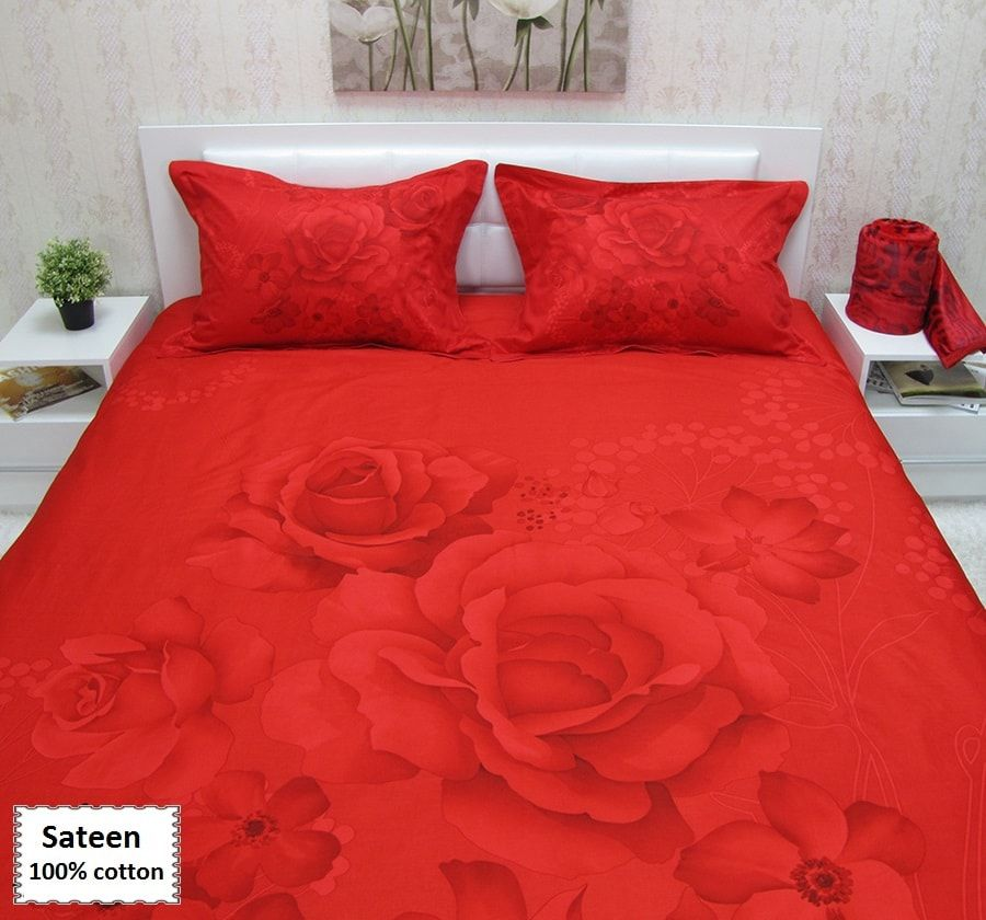 Red Bedding Sets King Size Sa Duvet Covers 4 Pieces