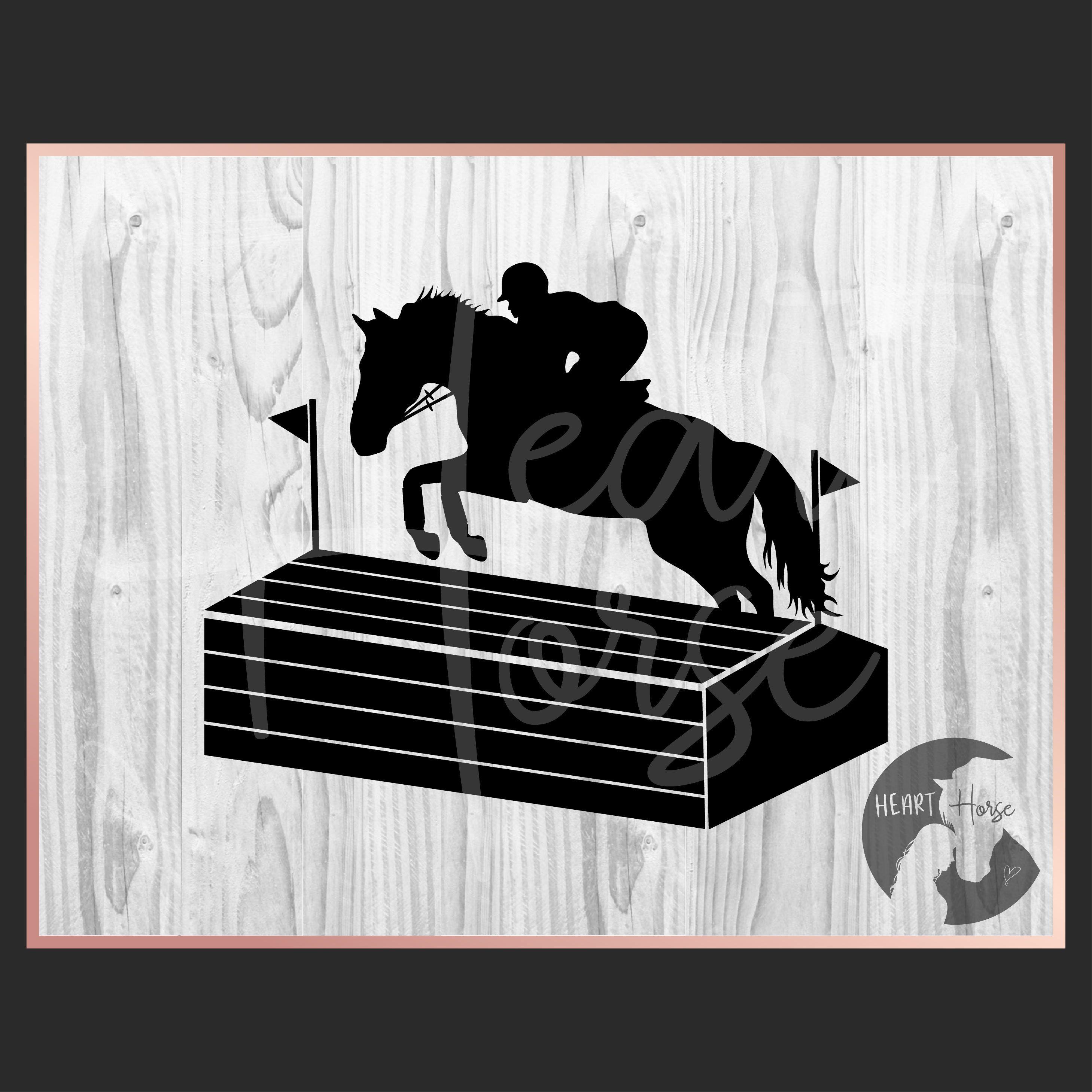 Horse eventing silhouette svg, cross country svg, horse
