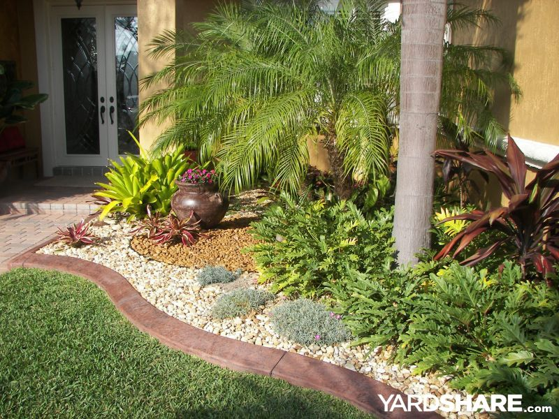 Small Front Yard Landscape With Palm Trees Tropical Front Yard Landscaping  Ideas With Palm Trees   The Effort For Creating The Attractive House Really  Will