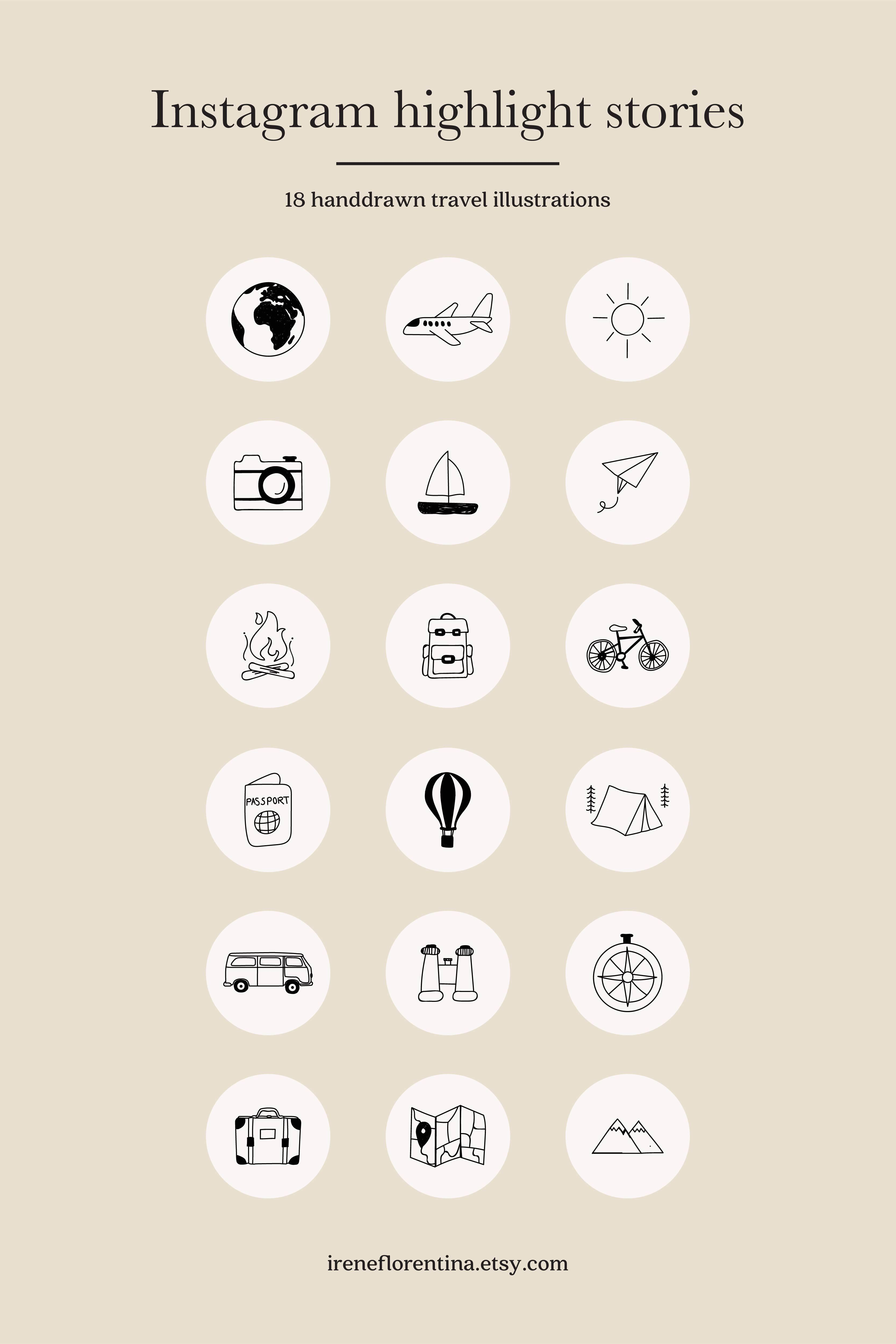 Travel Instagram Highlight Icons Instant Download Story