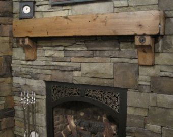 8 X Knotty Alder Beam Shelf Corbels Distressed Glazed With