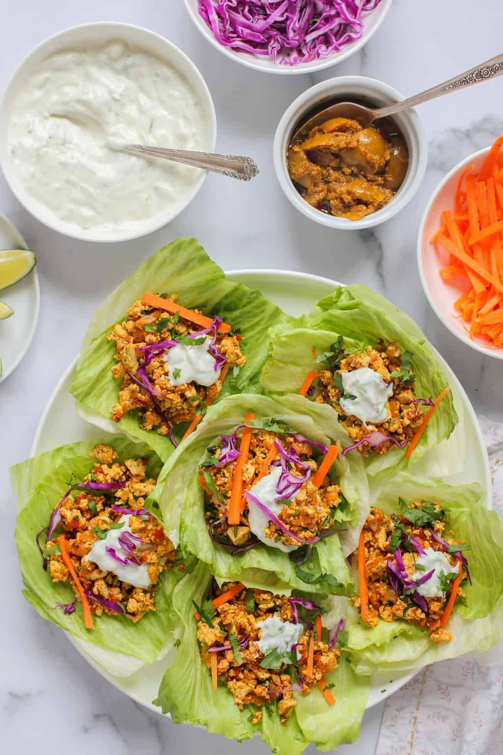 Spicy Tofu Lettuce Wraps Recipe Tofu lettuce wraps