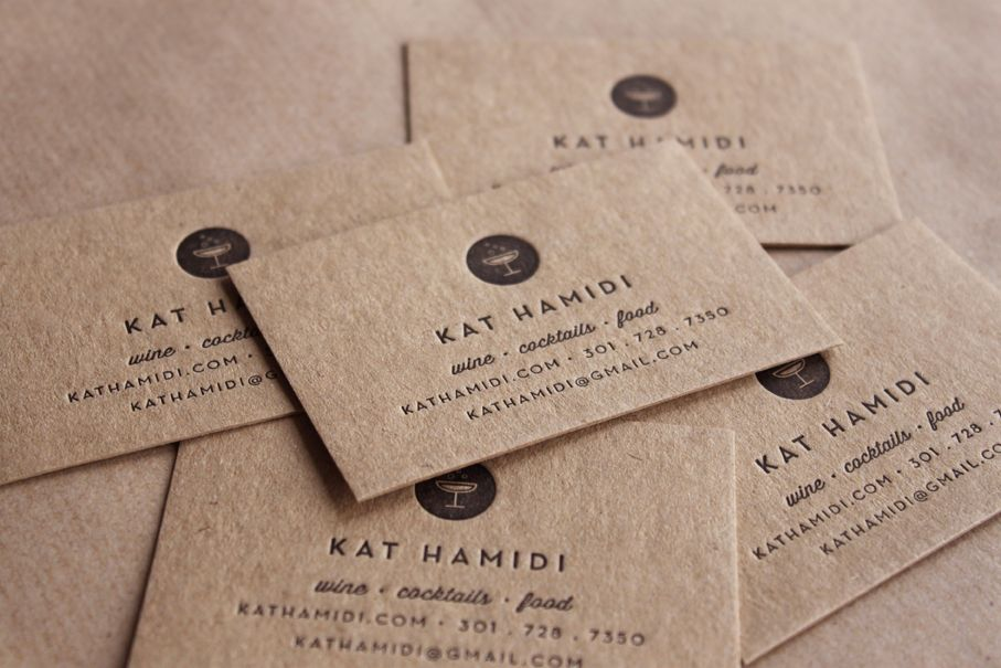 kraft paper Business Cards from Print Peppermint! | typ(orn ...