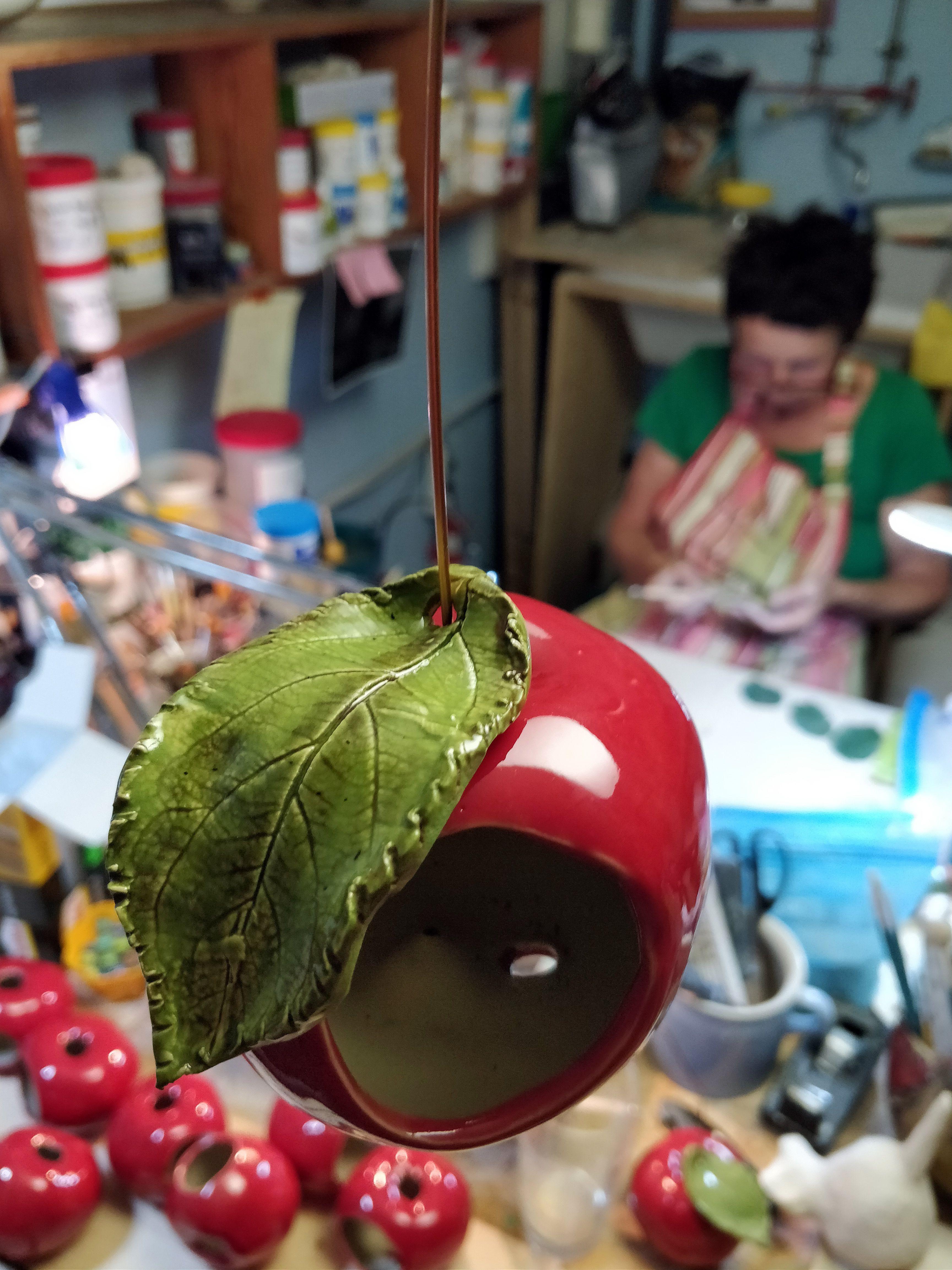 Apfel Keramik Nützlingshaus - Gartenfrosch