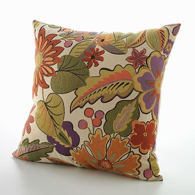 Lainey Floral Decorative Pillow. Kohls.com (#6) Heather Pinterest Pillows, Living rooms ...