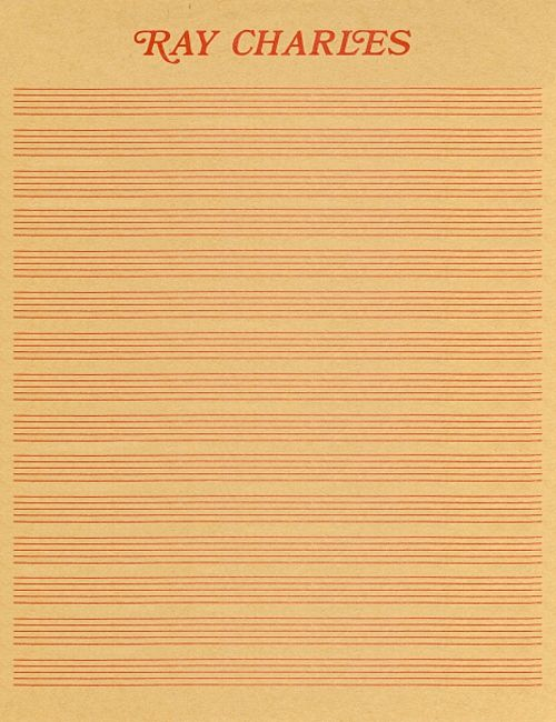 Ray Charles Stationery.
