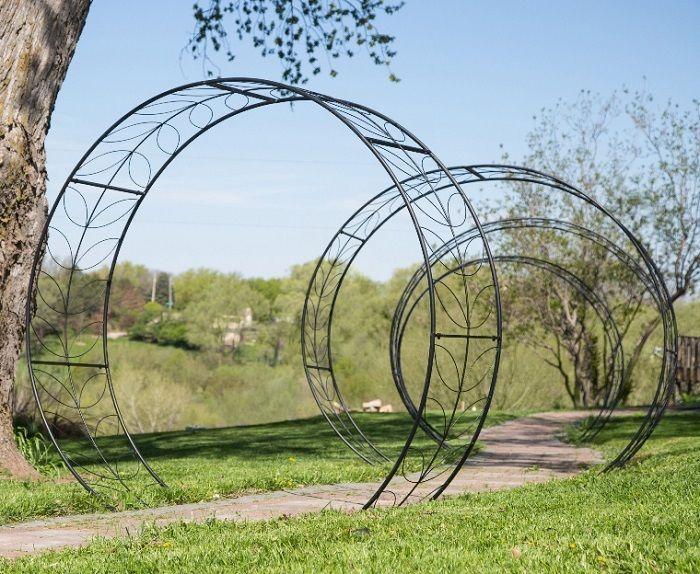 Metal Tunnel Garden Arbor Round Circular Vine Trellis