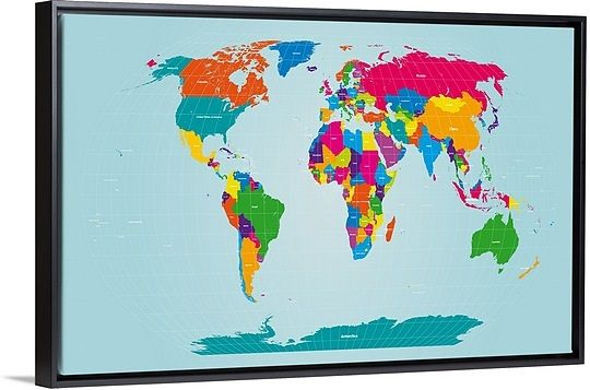 World map map wall art world map gumiabroncs Image collections