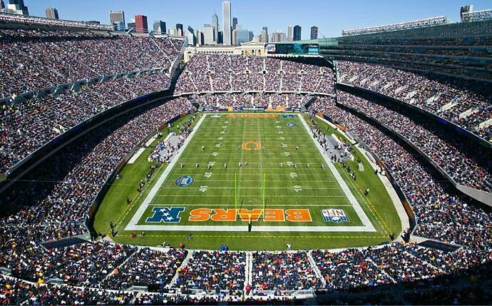 Chicago Bears Stadium Images Google Search Chicago Bears Stadium Chicago Bears Football Chicago Bears