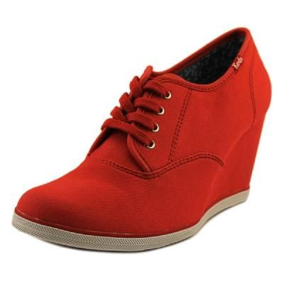 a2c66ae54ce Keds Damsel CVO Women Open Toe Canvas Red Wedge Heel from Shoe Metro ...