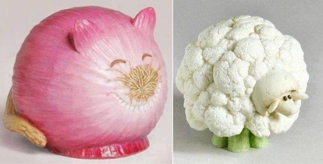 Znalezione Obrazy Dla Zapytania Zwierzatka Z Warzyw Food Art Vegetables Art Google