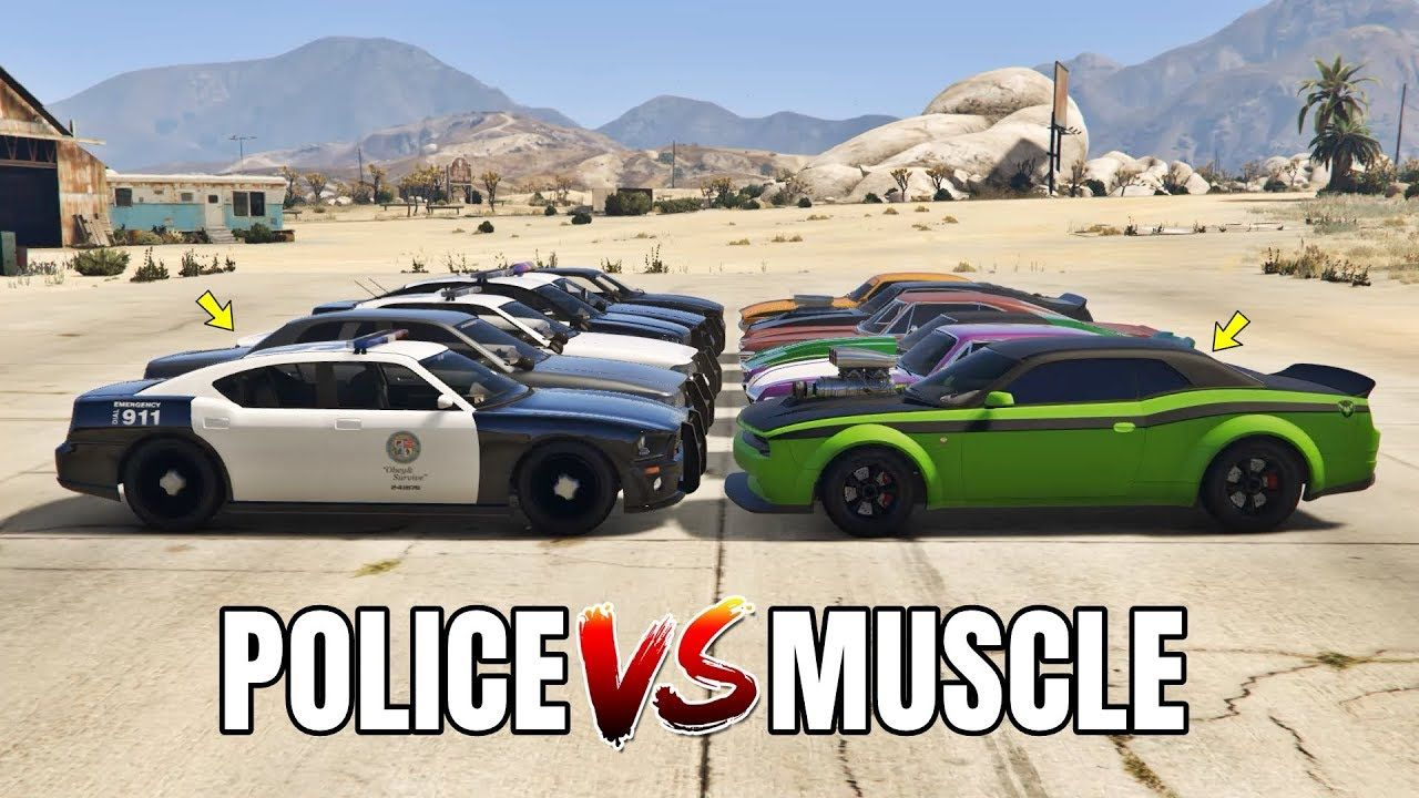 Gta 5 Online Police Vs Muscle Cars Which Is Fastest With