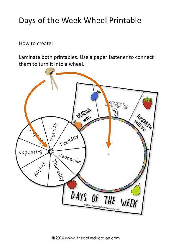 Activities Days Of The Week Caterpillar Worksheet