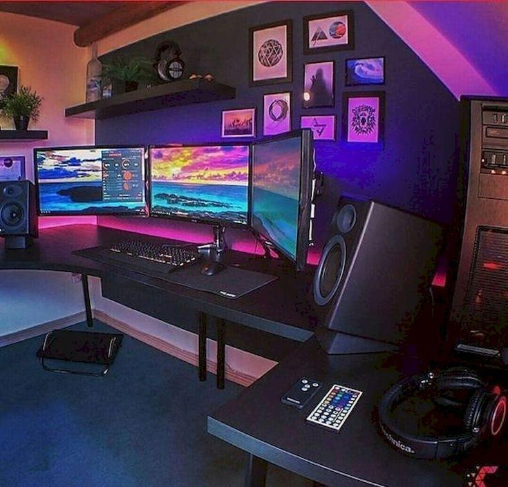 45 Fantastischer Computerspielraum Dekor Ideen und Design - #computer #dekor #design #fantastisches #spiel