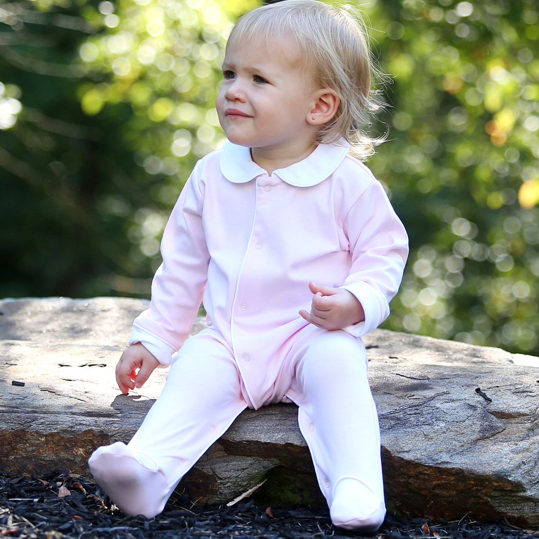 04a75f63e Baby Coveralls Pink w White Piping - Classic Luxury Baby and ...