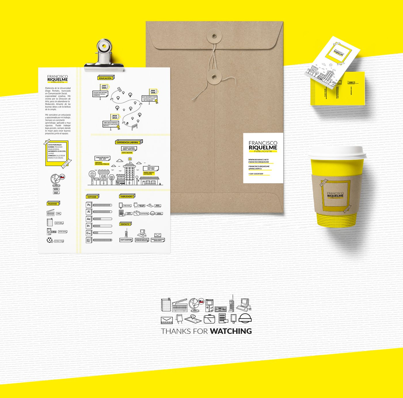 Personal Branding + Curriculum Vitae on Behance | Resume | Pinterest ...