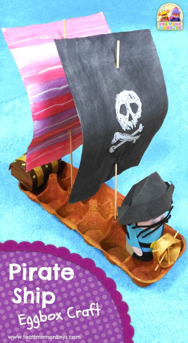 Pirate Ship Craft - Tea Time Monkeys