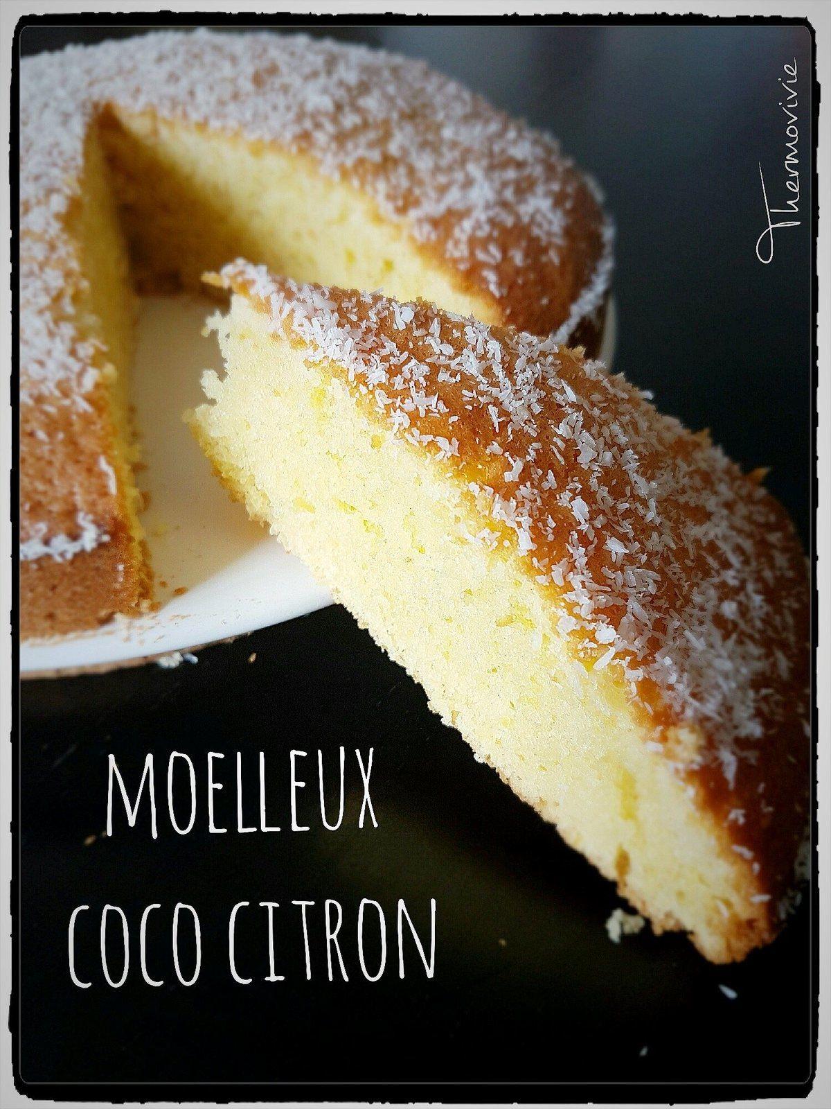 moelleux coco citron recette au thermomix dessert activit 233 sportive les