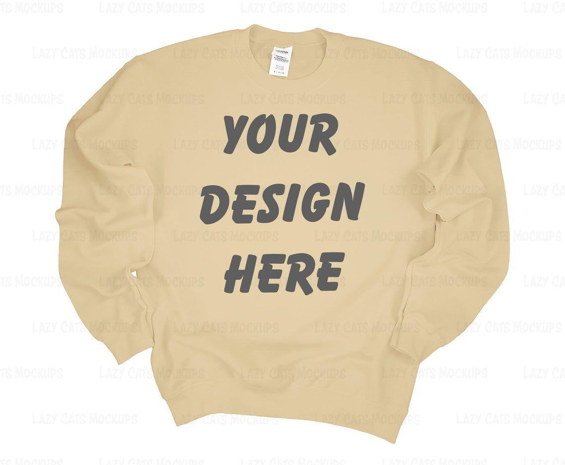 Sand Gildan 18000 Mock Up Sweatshirt Mock Up Flat Lay Mock Etsy Sweatshirts Sweatshirts Online Hoodie Mockup [ 938 x 1140 Pixel ]