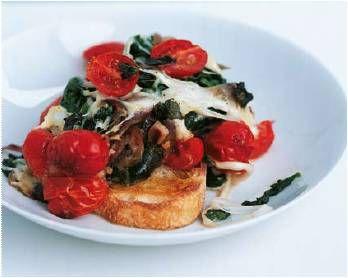 Gegratineerde spinazie en mozzarella- De Smaak van Italië