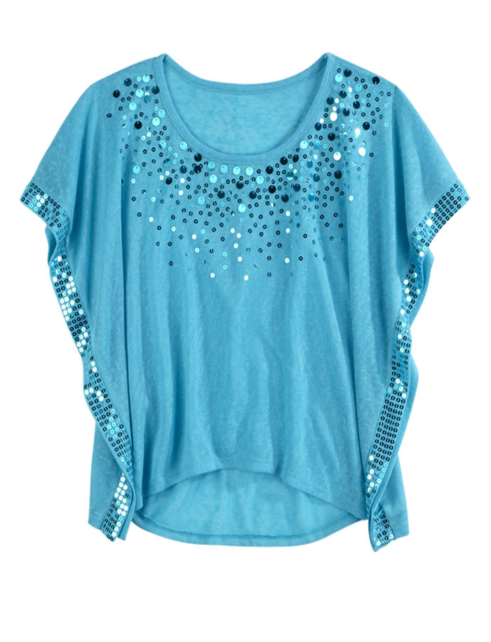 Sequin Circle Top | Short Sleeve | Tops & Tees | Shop Justice ...
