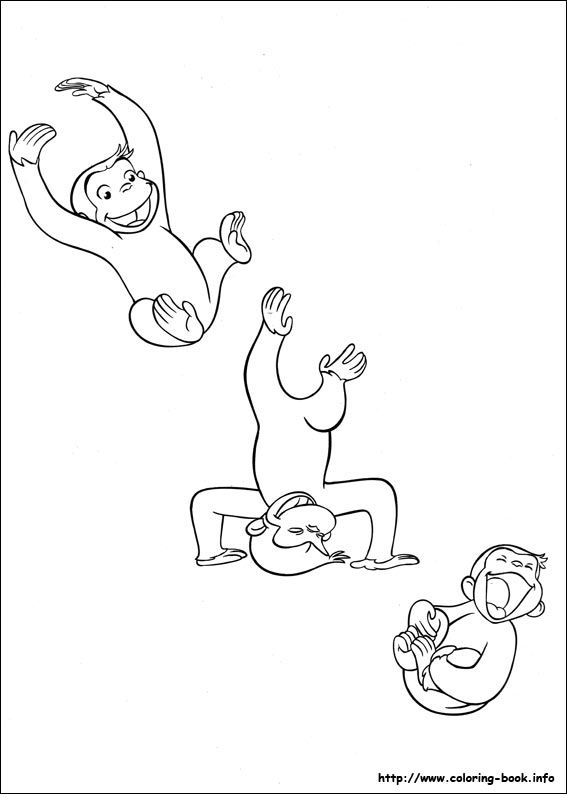 Curious George coloring picture | Inked | Pinterest | Jorge el ...