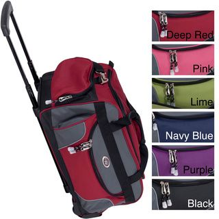 CalPak Champ 21-inch Carry On Rolling Upright Duffel Bag by CalPak ...