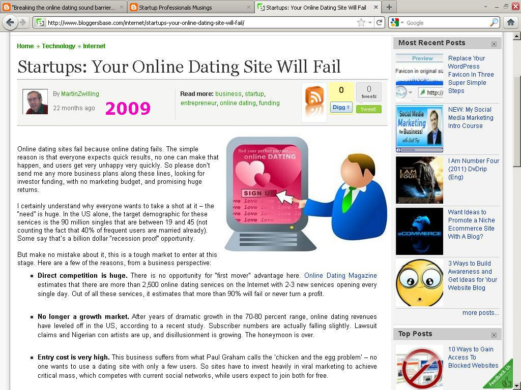 Top rated dating sites 2009