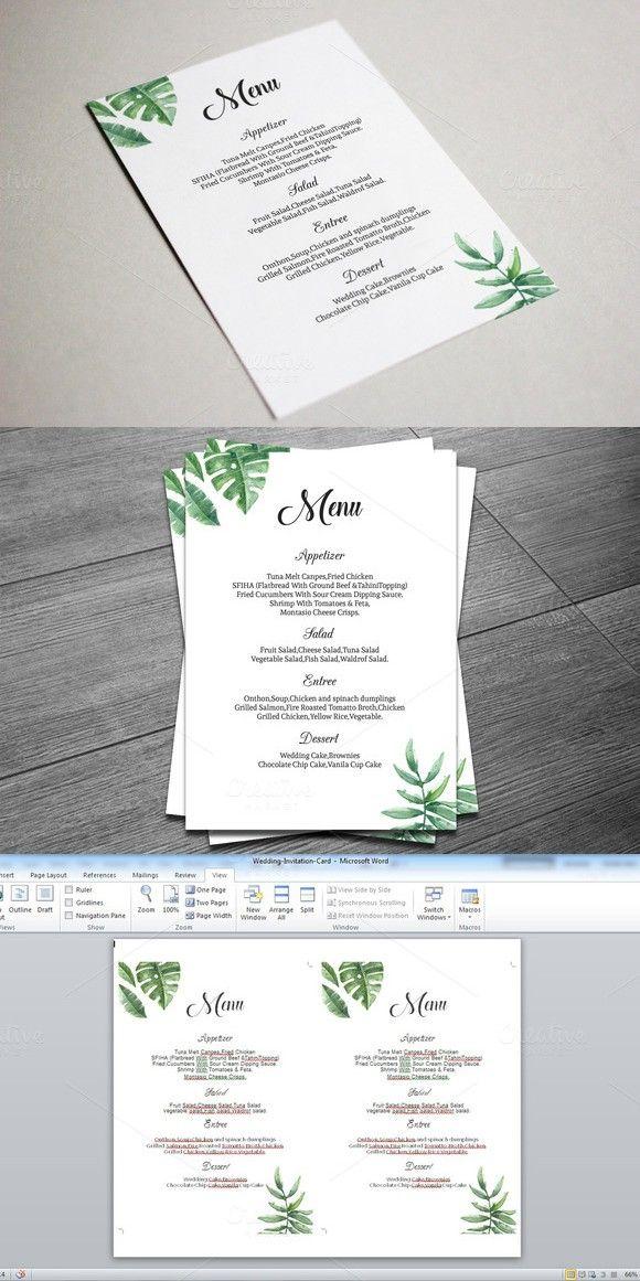 printable wedding menu template wedding menu template menu