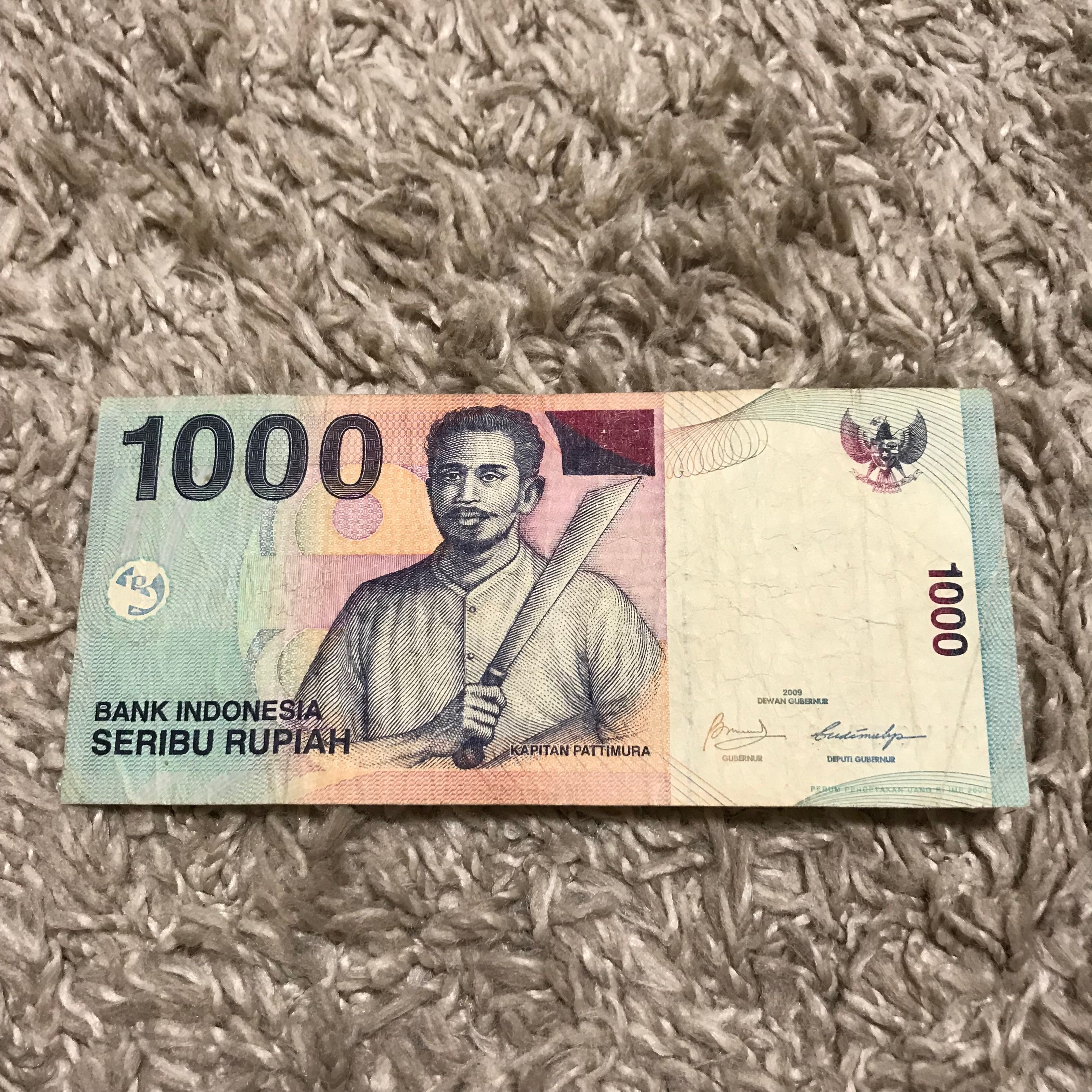 1000 Indonesian Rupiah 2009