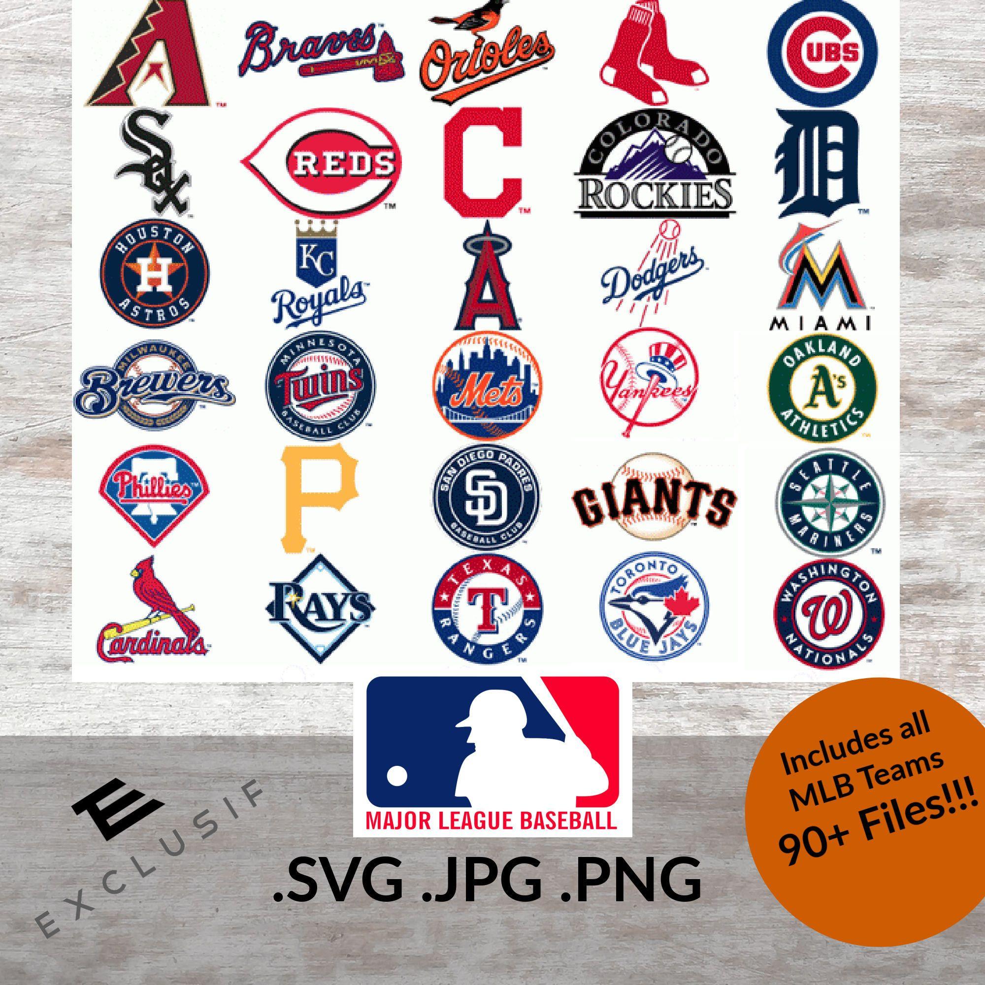 Mlb Inspired Team Logos Svg Jpg Png Baseball Mlb Vector Mlb Png Mlb Clip Art Mlb Digital Files Mlb Cricut Fil In 2020 Mlb Team Logos Mlb Teams Mlb Logos