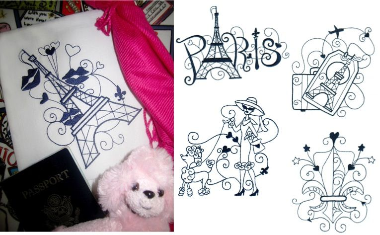 Enchanted Paris - Oh-La-La and Tres jolie! Watching the ladies with their French poodles, sipping your café au lait, and sweet romantic kisses on top of the Eiffel tower. We bring all these magical moments, first class from our Enchanted Paris collection.
