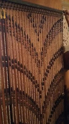 Details About VINTAGE WOOD BEADS DOOR FRAME CURTAIN 1960s HippieRetroCOOL In 2019 Beaded