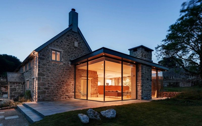 Dartmoor farmhouse with a contemporary extension a complete renovation of this century farmhouse included eco features and a gorgeous glass box extension