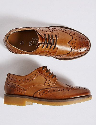 Kids' Leather Brogue Shoes (5 Small